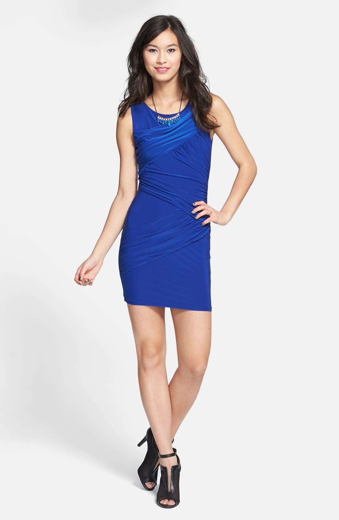 Alternate Image 1 Selected - Soprano Ruched Body-Con Dress (Juniors)