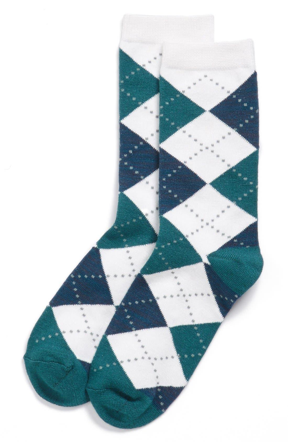 Alternate Image 1 Selected - Nordstrom 'Soft Touch' Argyle Crew Socks (3 for $18)