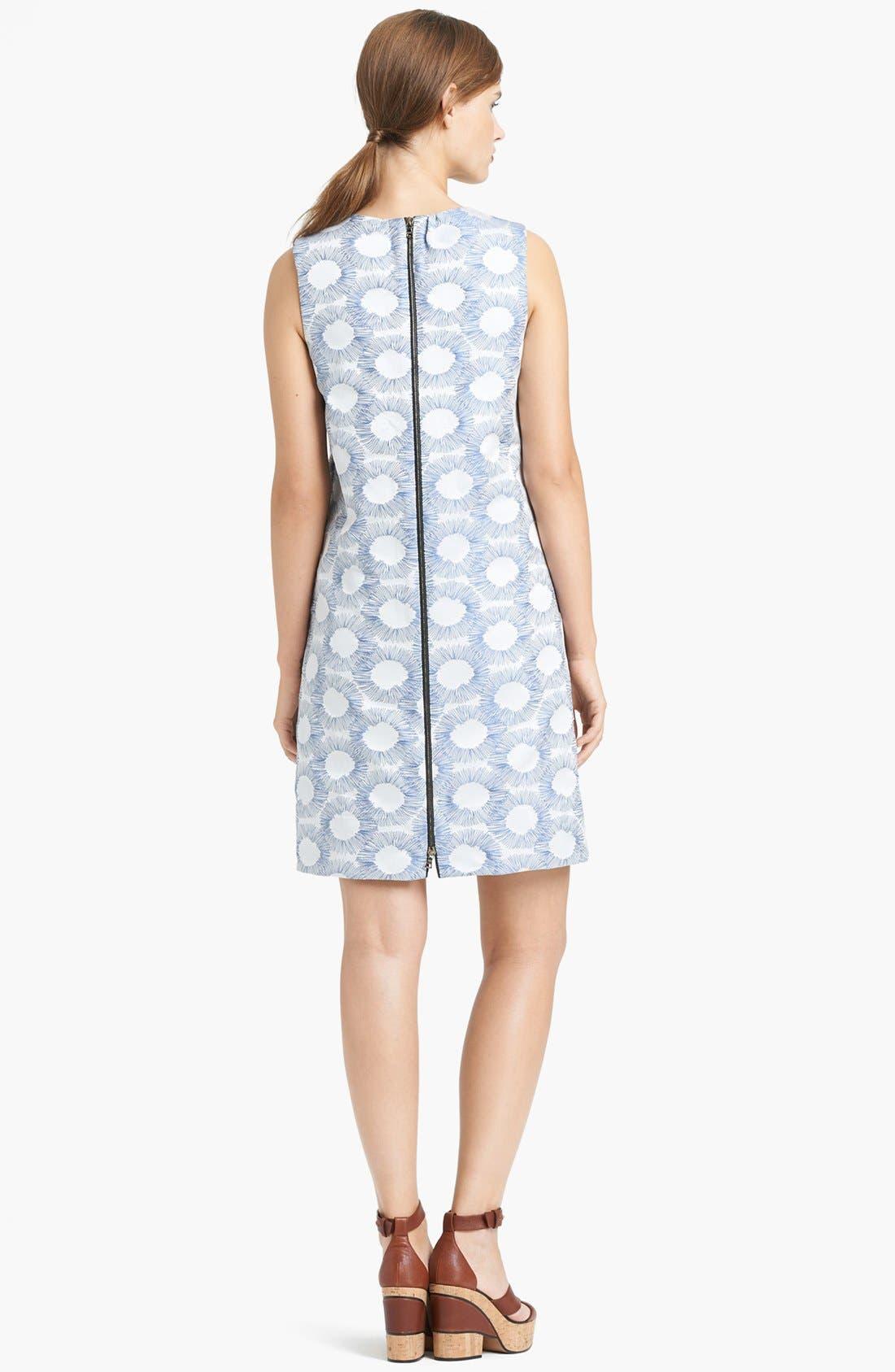 Alternate Image 2  - Lida Baday Graphic Jacquard Shift Dress