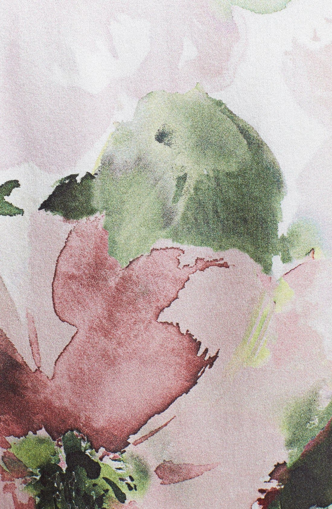 Alternate Image 3  - St. John Collection Garden Floral Print Charmeuse Bow Blouse