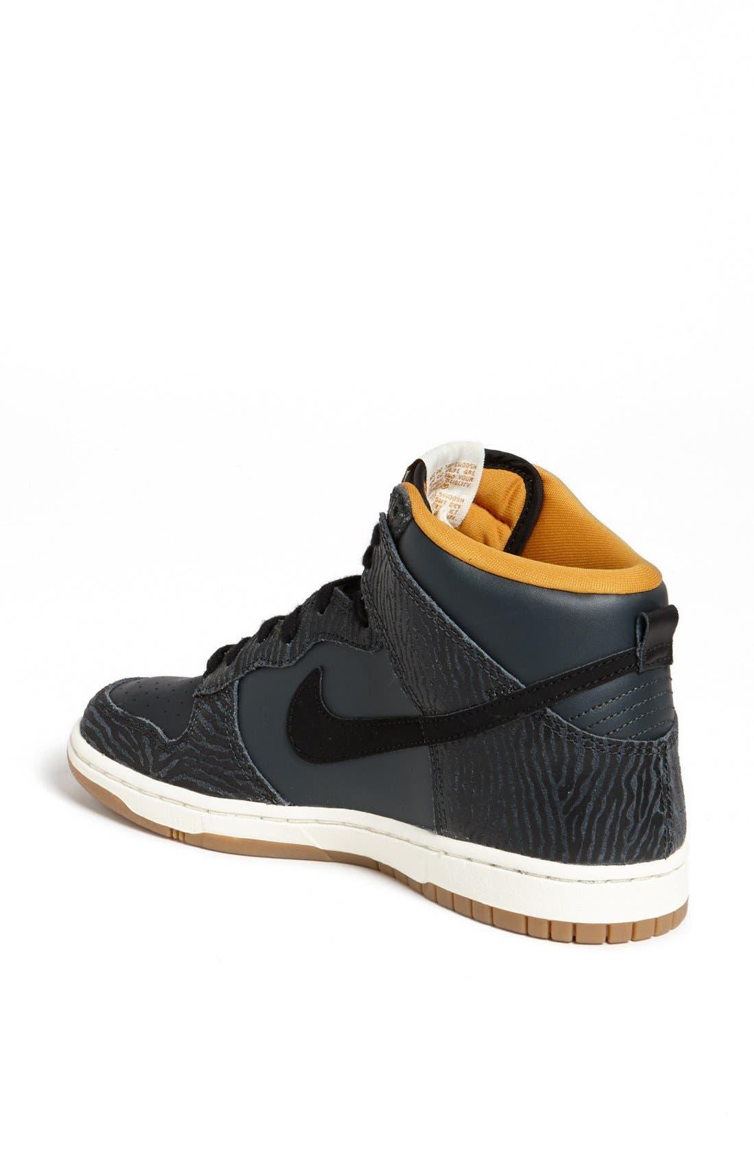 Alternate Image 2  - Nike 'Dunk Hi - Skinny Print' High Top Basketball Sneaker