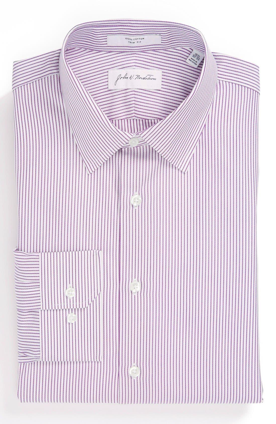 Alternate Image 1 Selected - John W. Nordstrom Trim Fit Stripe Dress Shirt