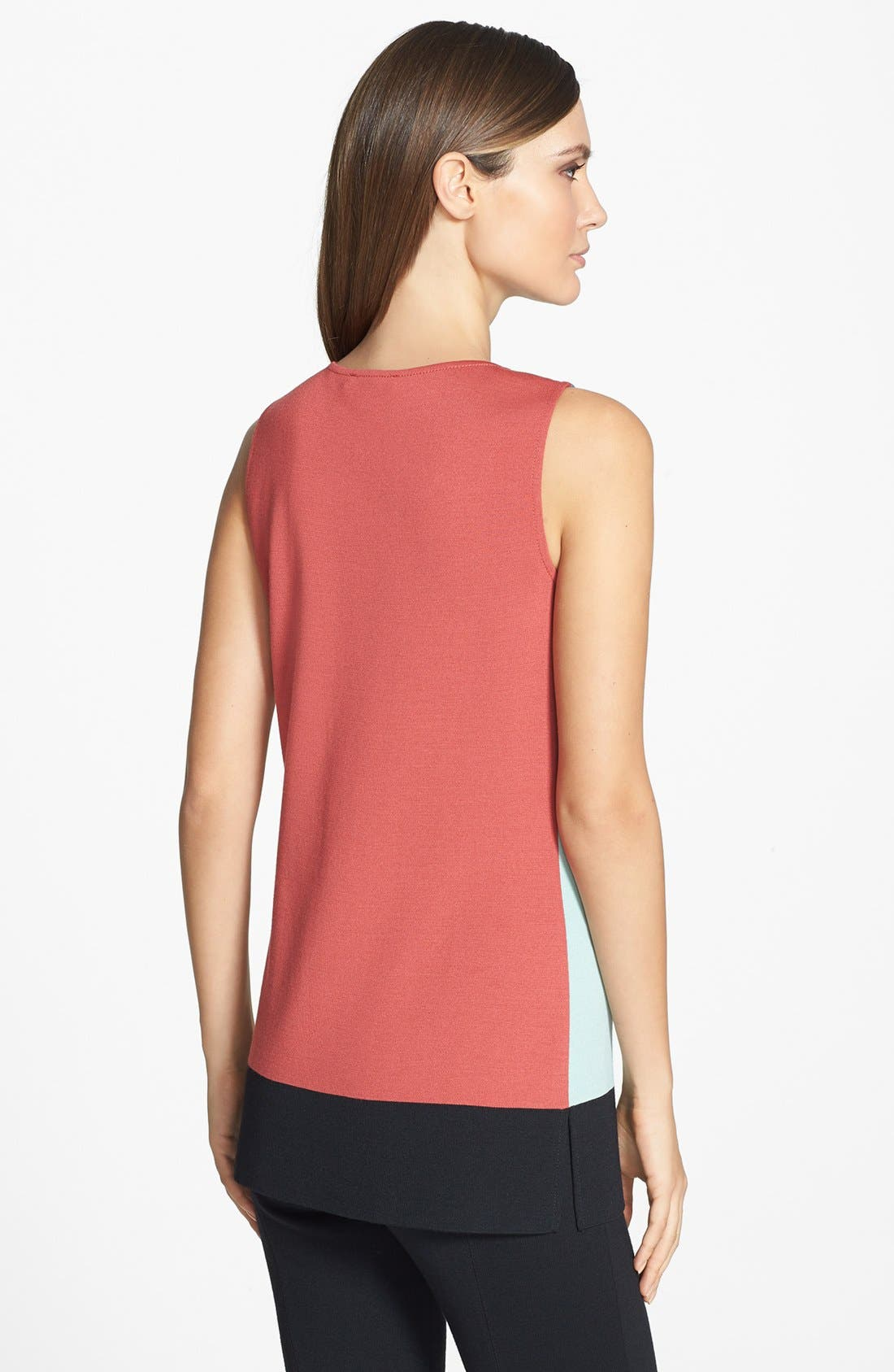 Alternate Image 4  - St. John Collection Colorblock Milano Knit Sleeveless Tunic