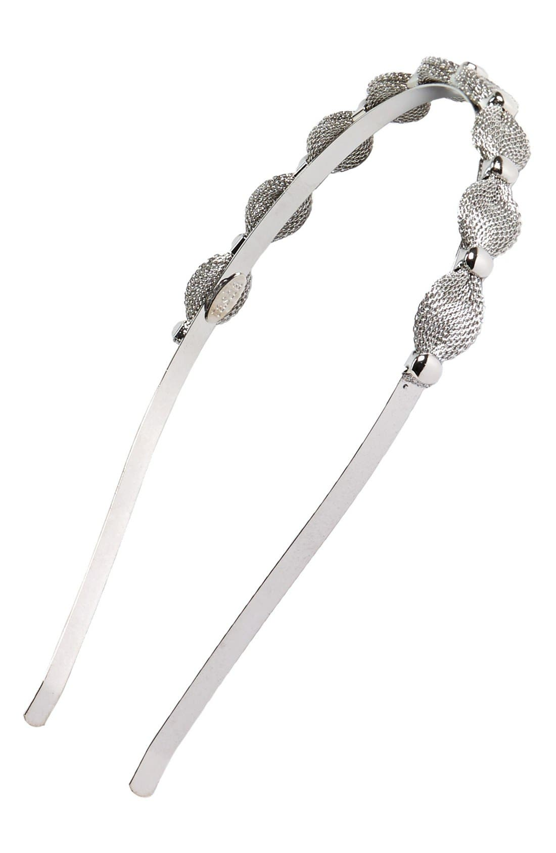 Alternate Image 1 Selected - Tasha Metallic Mesh Headband