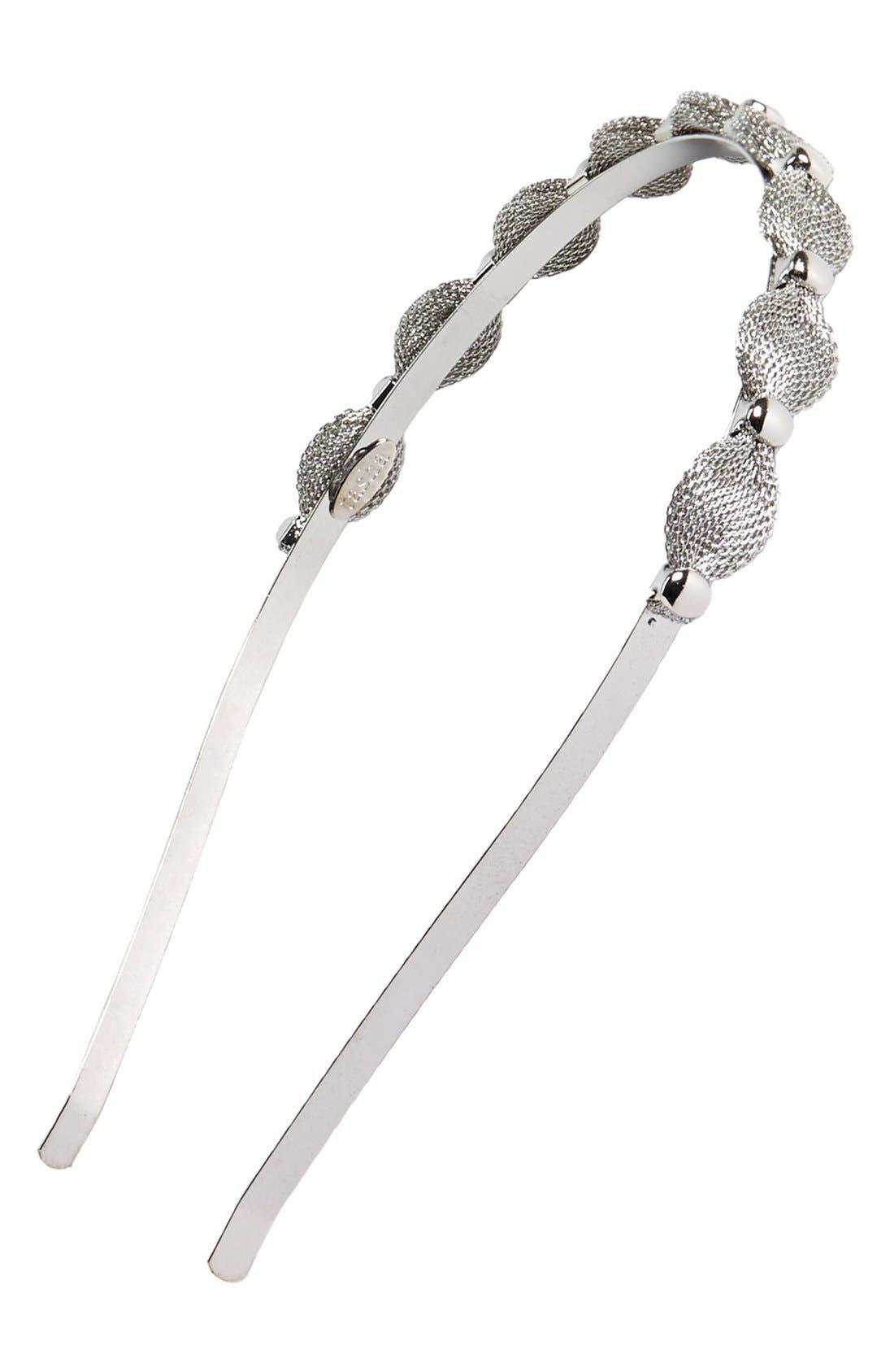 Main Image - Tasha Metallic Mesh Headband