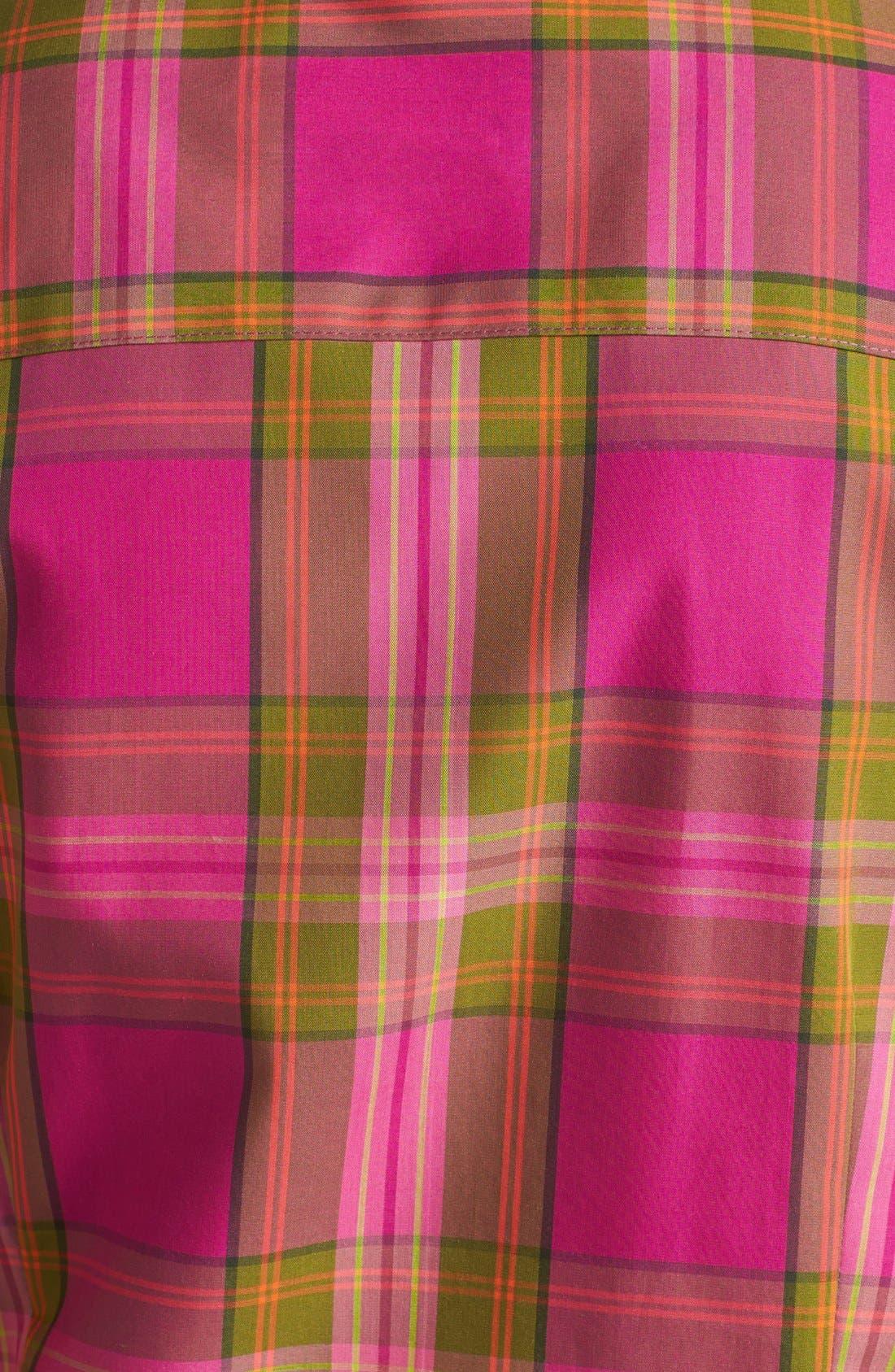 Alternate Image 3  - Foxcroft 'Autumn Tartan' Woven Cotton Shirt (Petite)