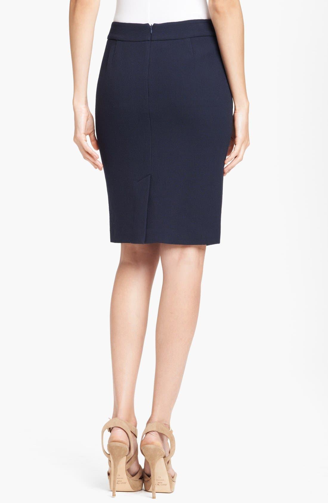 Alternate Image 2  - Armani Collezioni Gabardine Pencil Skirt