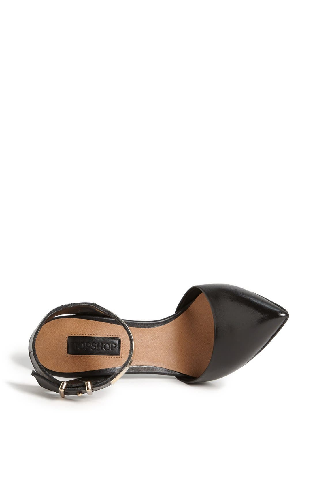 Alternate Image 3  - Topshop Goldtone Bar Ankle Strap Pump