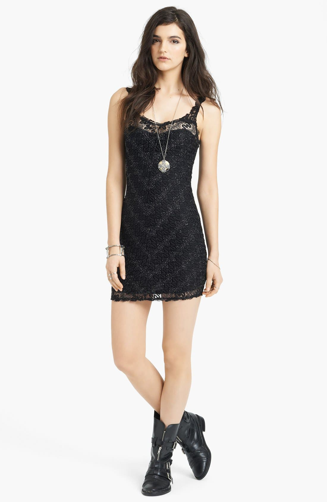 Main Image - Free People 'Again' Lace Body-Con Dress