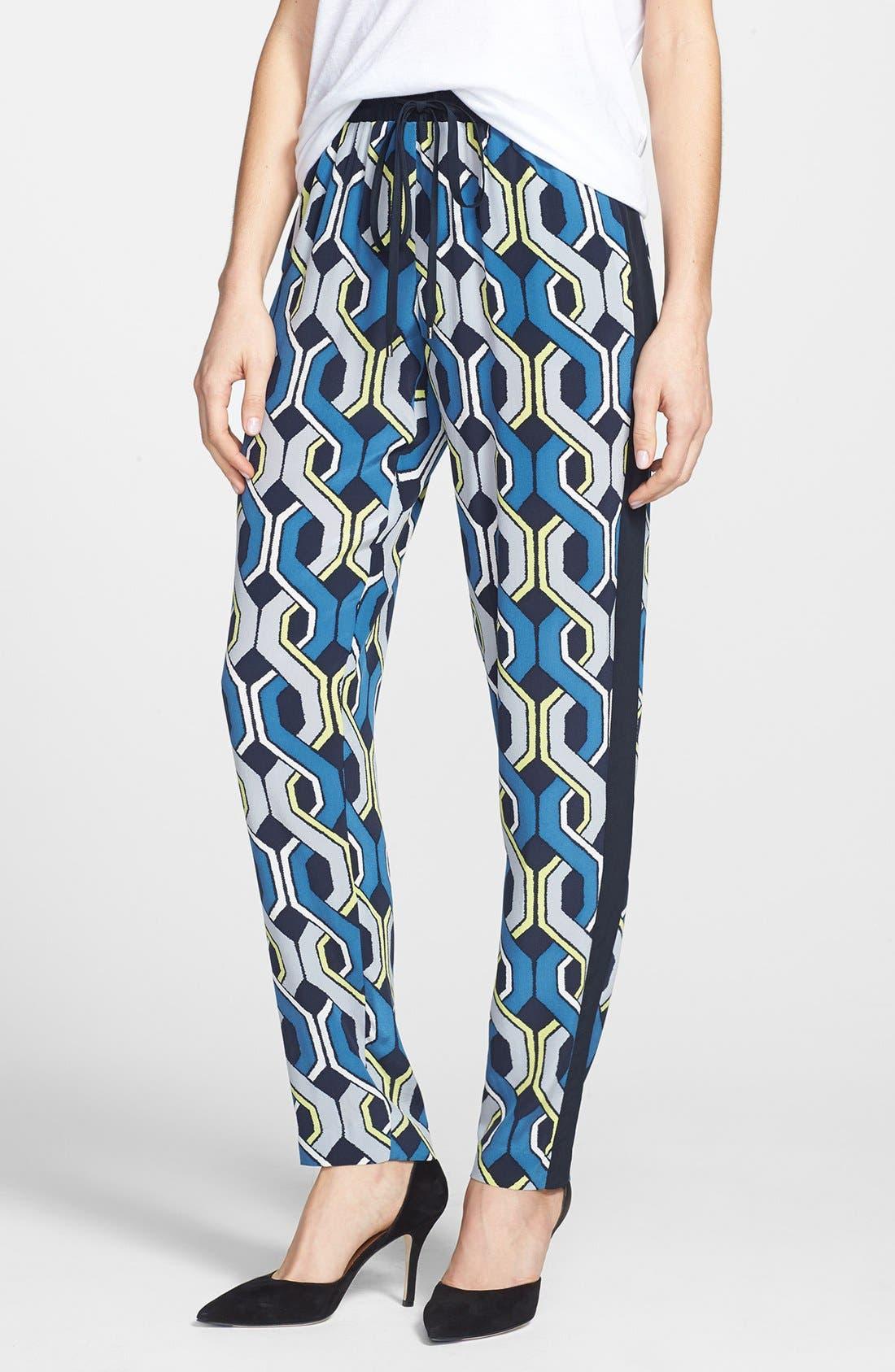 Alternate Image 1 Selected - Trina Turk 'Mariane' Drawstring Silk Pants