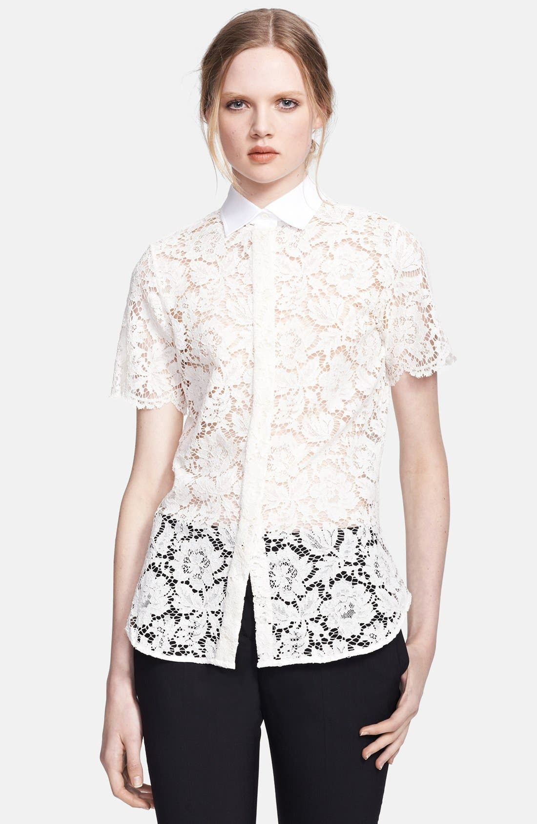 Alternate Image 1 Selected - Valentino Lace Blouse