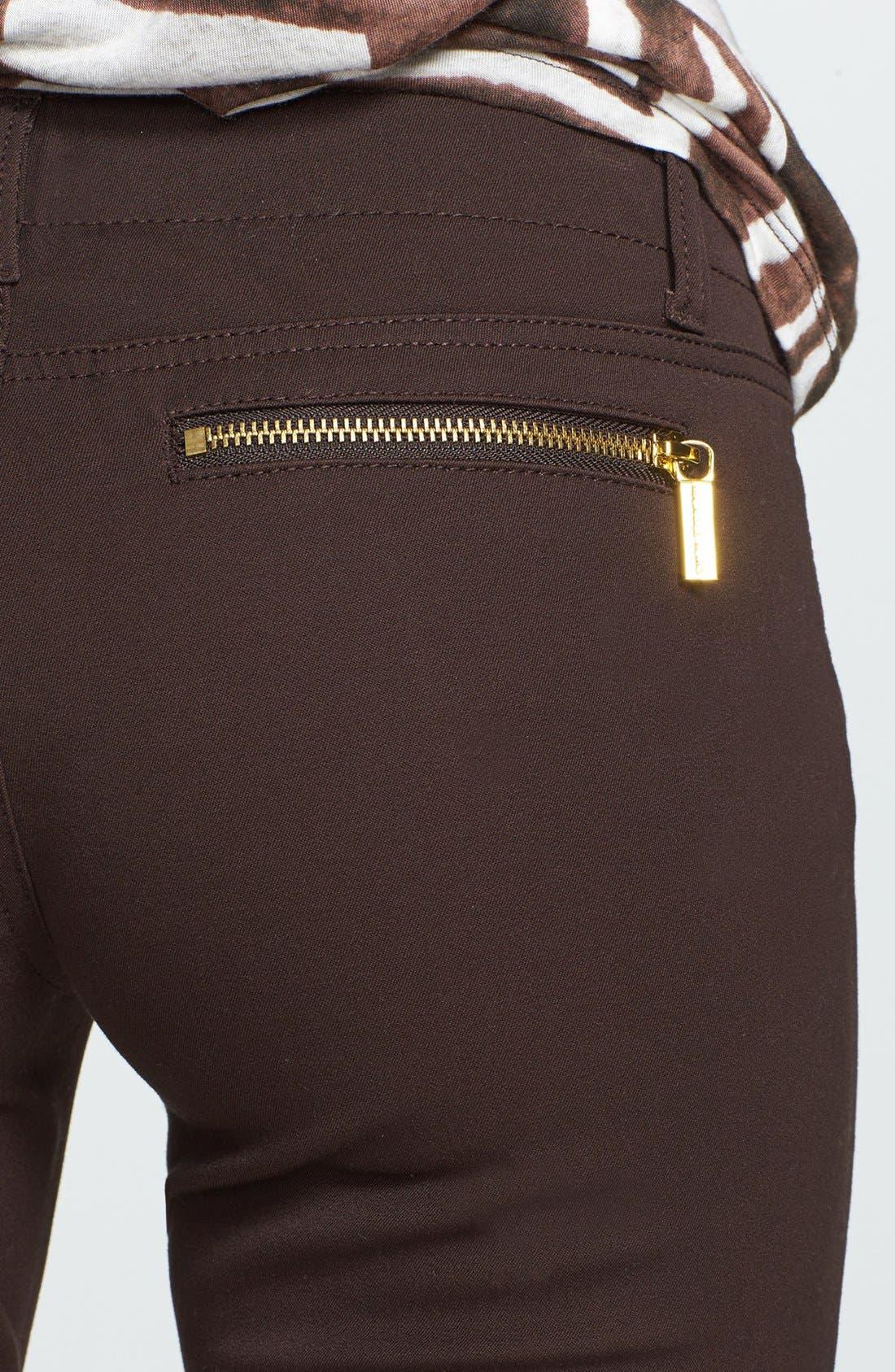 Alternate Image 3  - MICHAEL Michael Kors 'Rocker' Zip Twill Pants