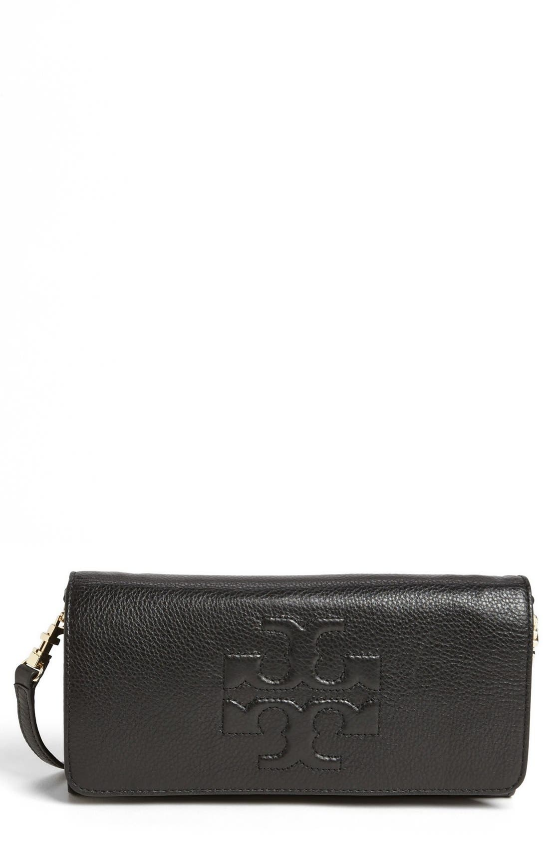 Main Image - Tory Burch 'Thea' Foldover Crossbody Clutch