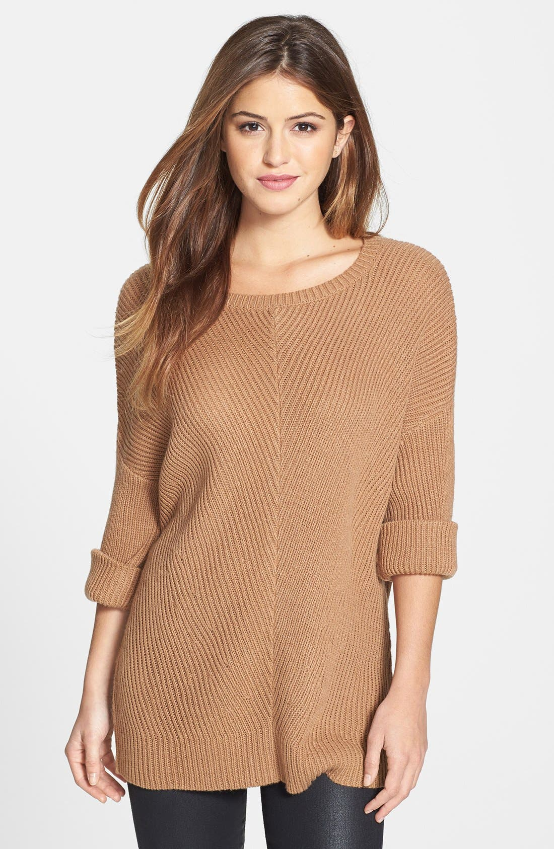 Alternate Image 1 Selected - Halogen® Slouchy Ribbed Tunic
