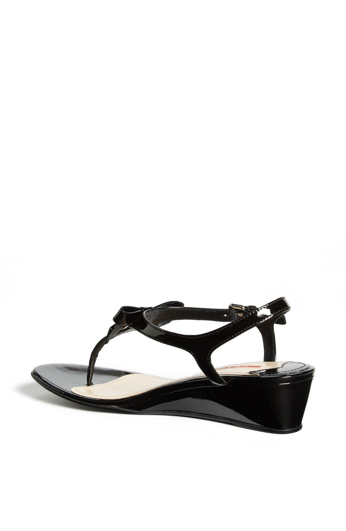 Alternate Image 2  - Prada 'Bow' Wedge Sandal