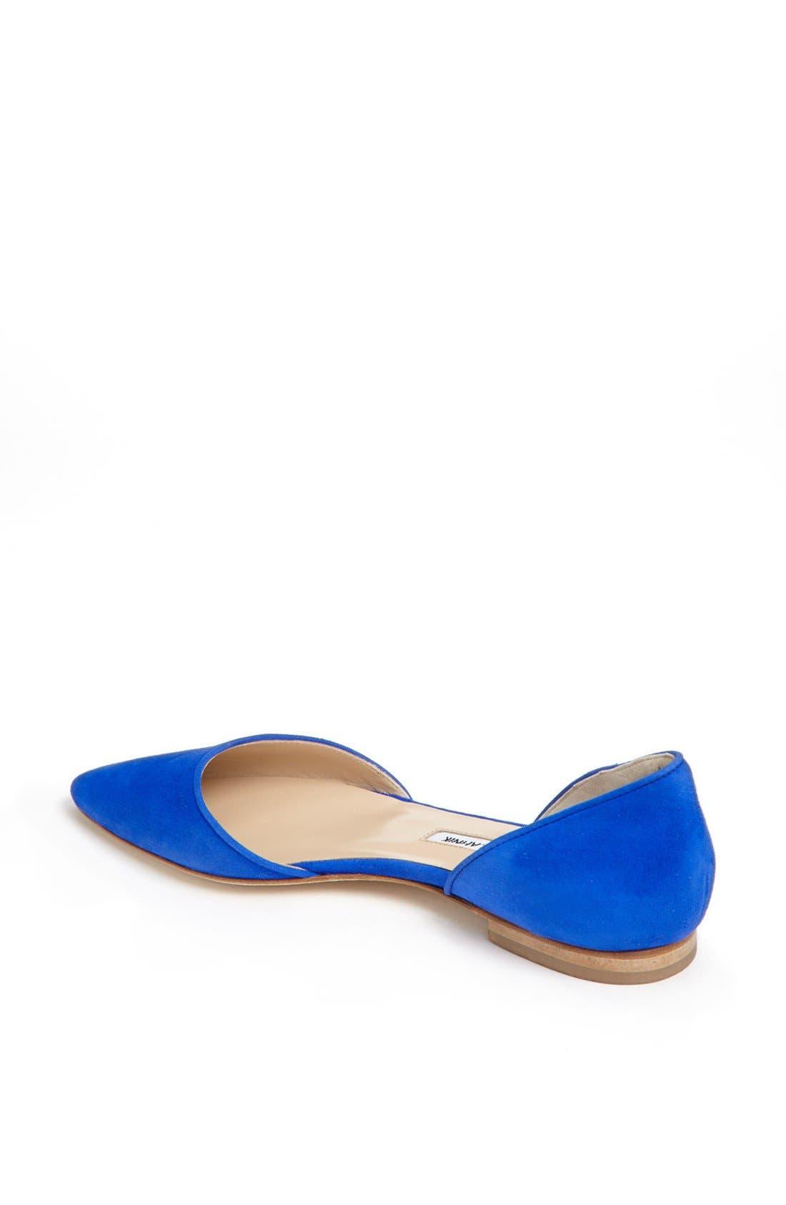 Alternate Image 2  - Manolo Blahnik 'Soussaba' Suede Pointed Toe Flat