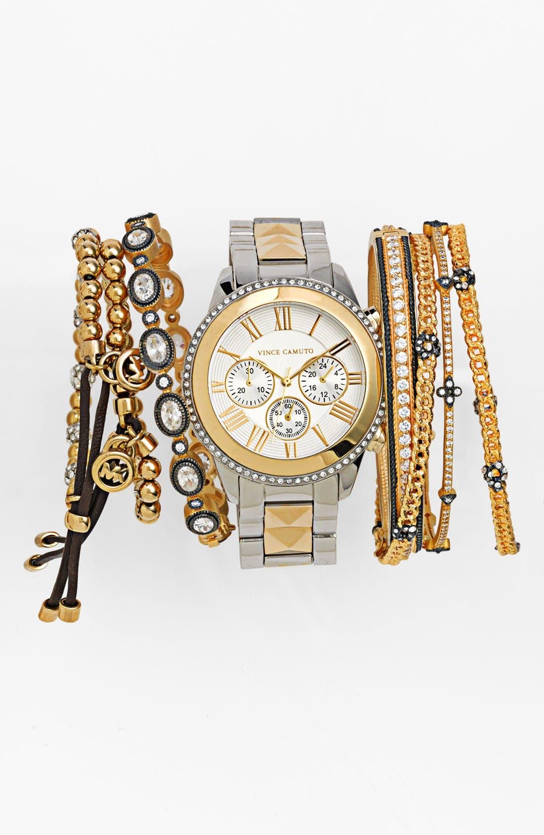 Main Image - Vince Camuto Watch & Michael Kors Bracelets