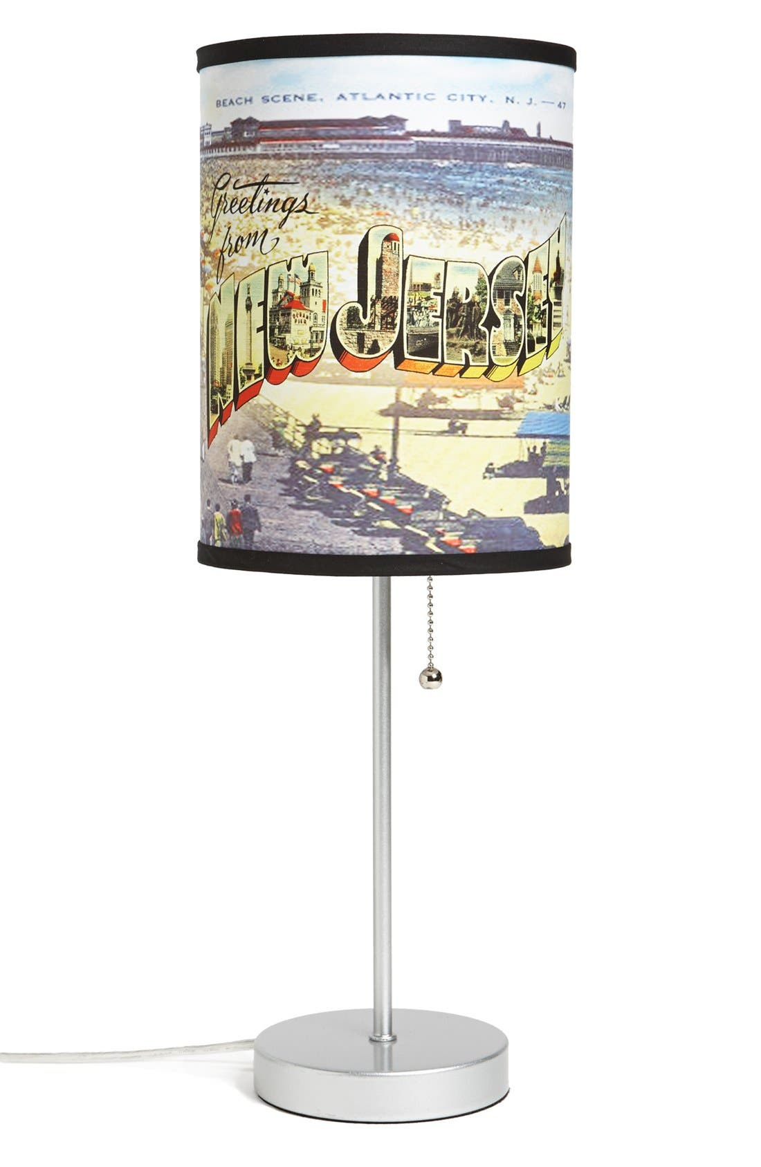 Main Image - LAMP-IN-A-BOX 'Greetings from New Jersey' Table Lamp