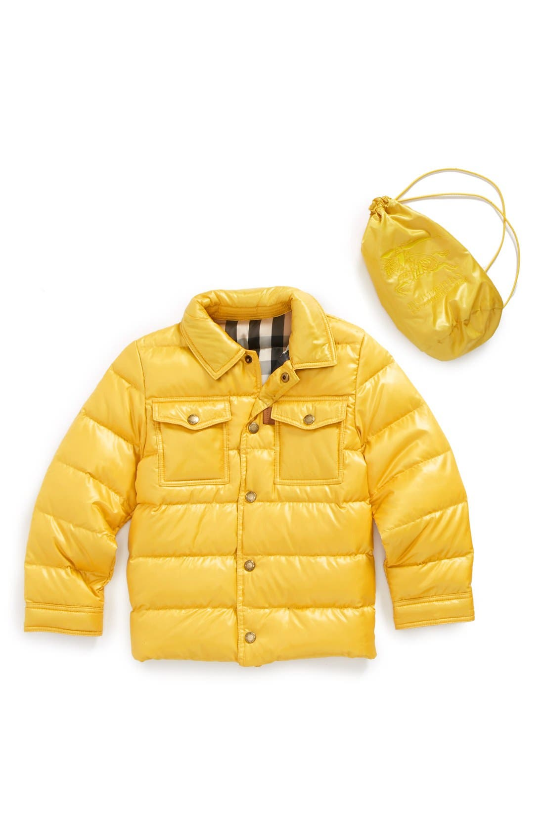 Main Image - Burberry Down Puffer Jacket (Toddler Boys, Little Boys & Big Boys)