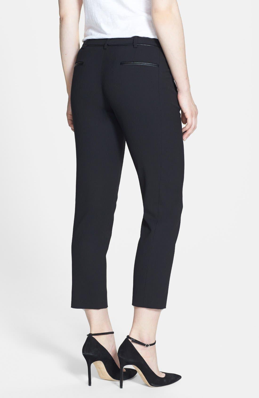 Alternate Image 2  - Vince Camuto 'Scarpa' Faux Leather Trim Skinny Crop Pants