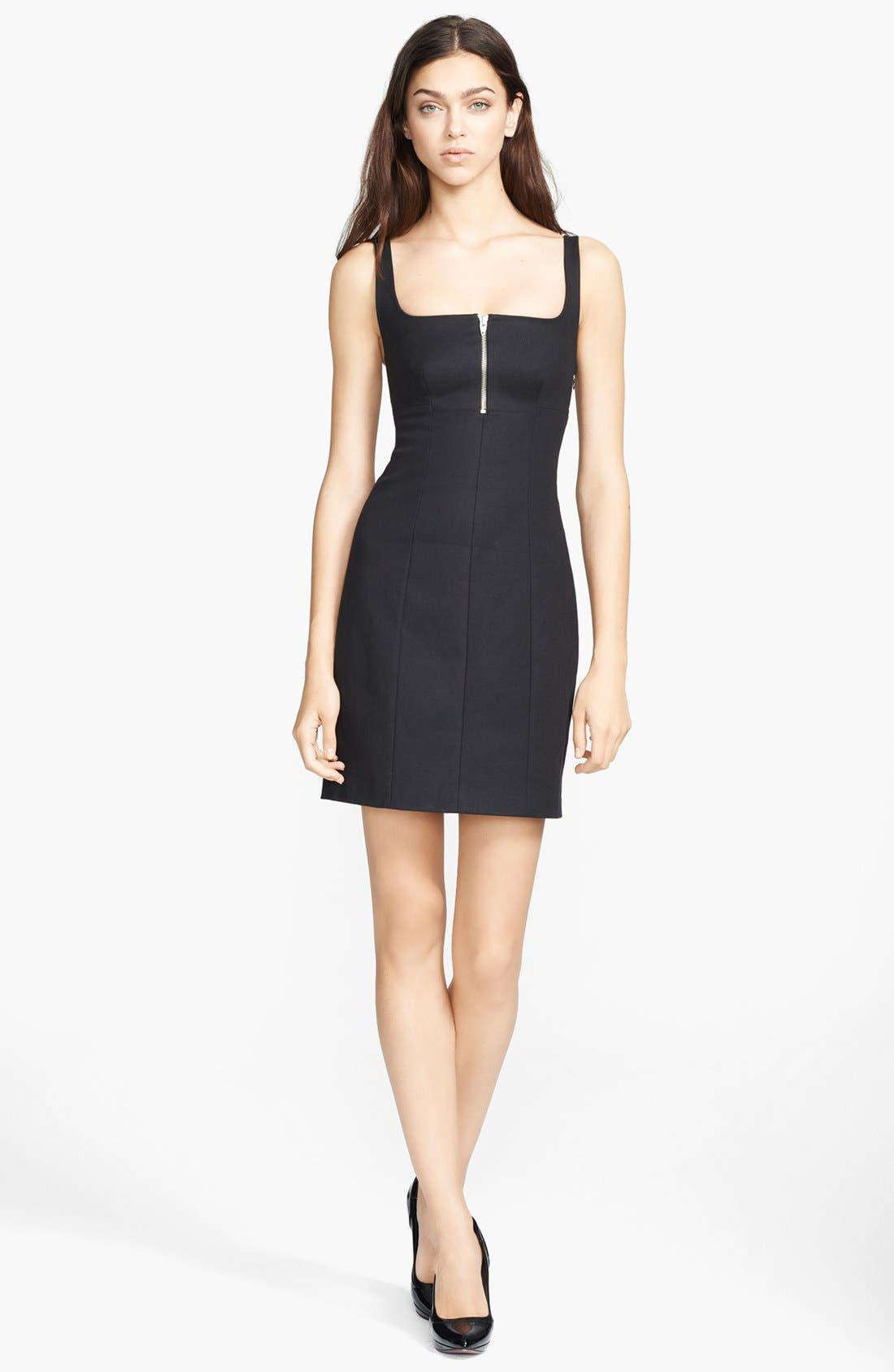 Alternate Image 1 Selected - T by Alexander Wang Square Neck Double Face Dress