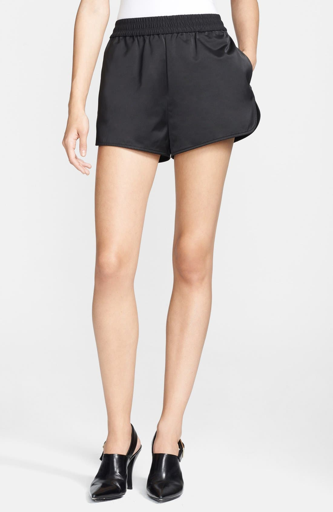 Main Image - T by Alexander Wang Satin Track Shorts