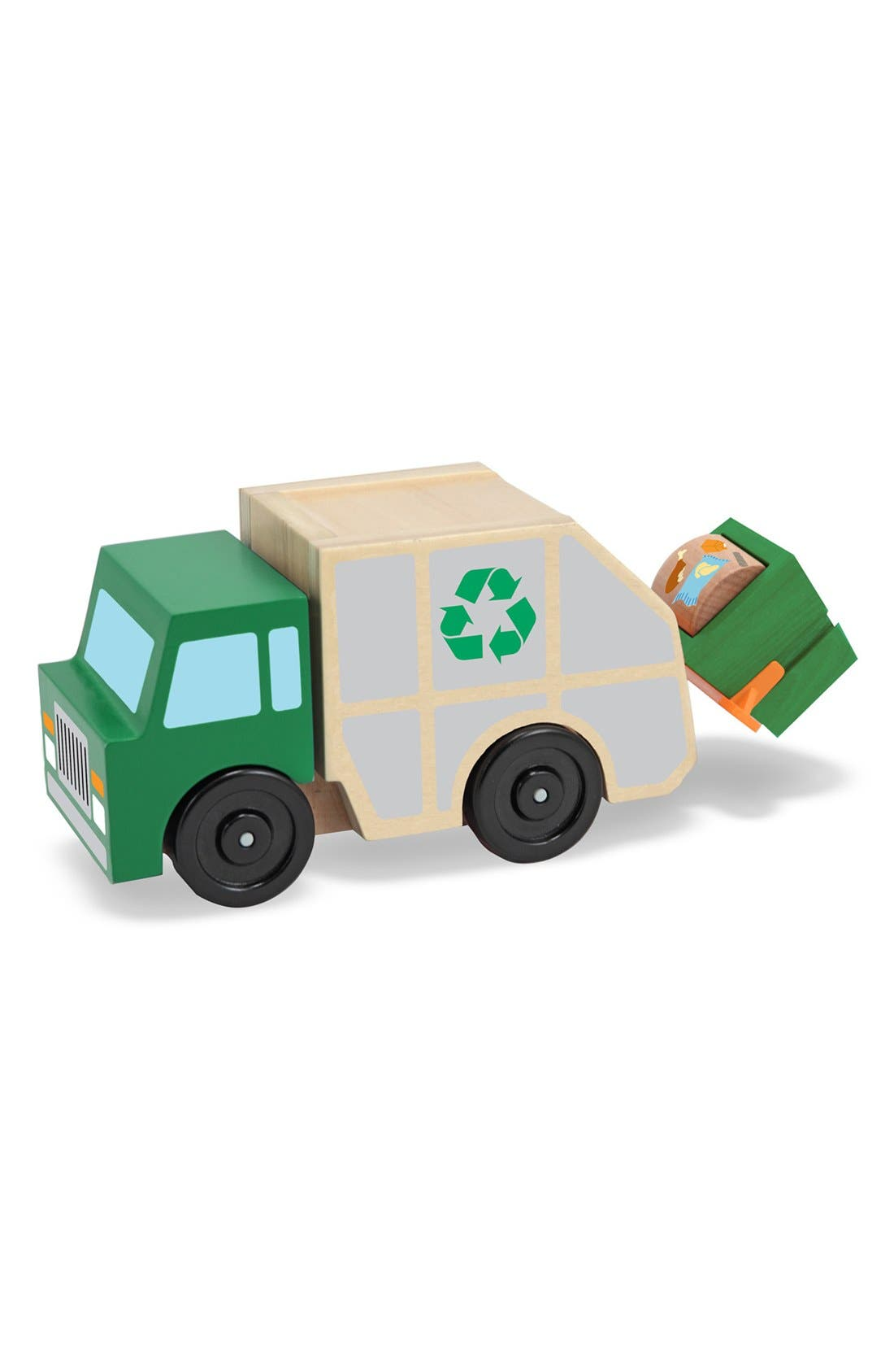 Main Image - Melissa & Doug Wooden Recycling Truck