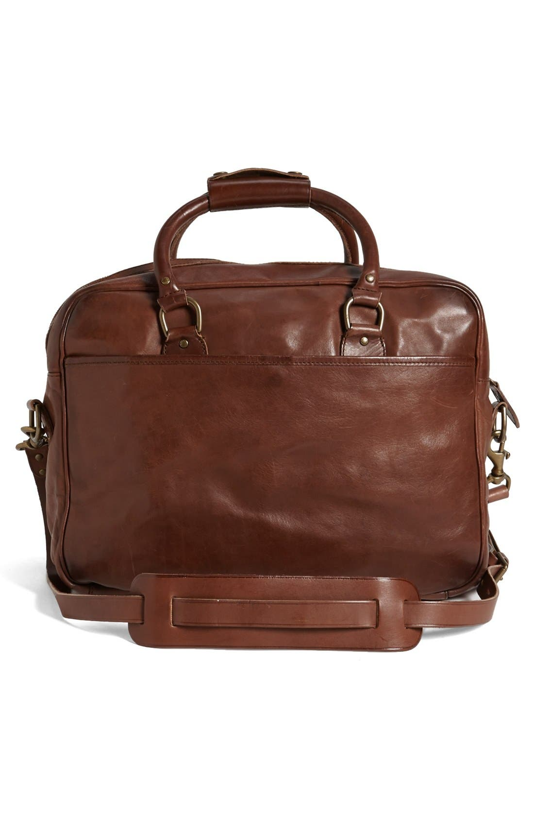 Alternate Image 4  - Polo Ralph Lauren Leather Commuter Bag