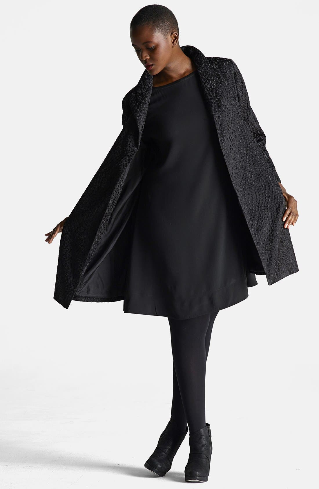 Alternate Image 4  - Eileen Fisher Embroidered Silk Coat (Plus Size)