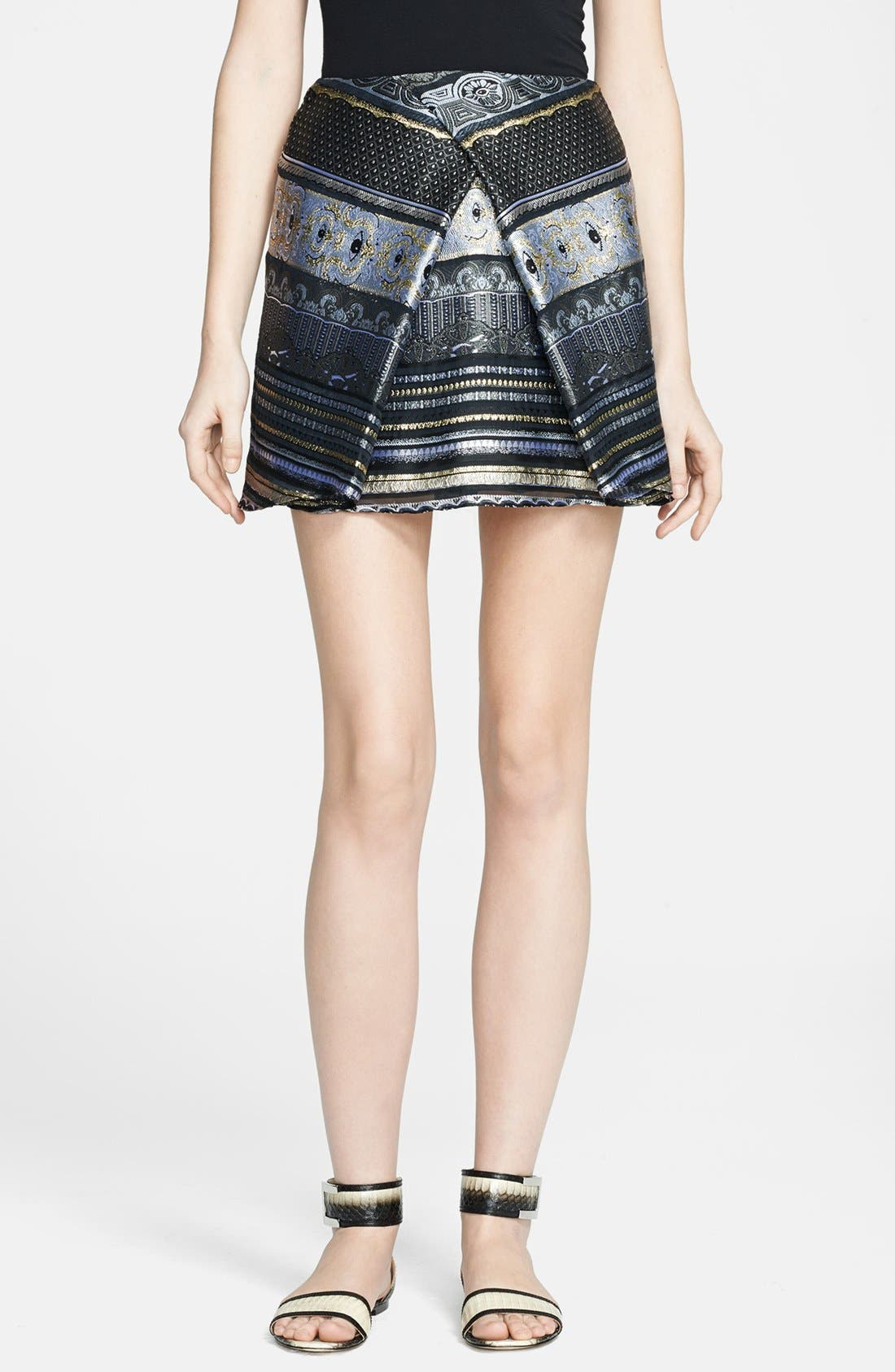 Alternate Image 1 Selected - KENZO Invert Pleat Jacquard Miniskirt