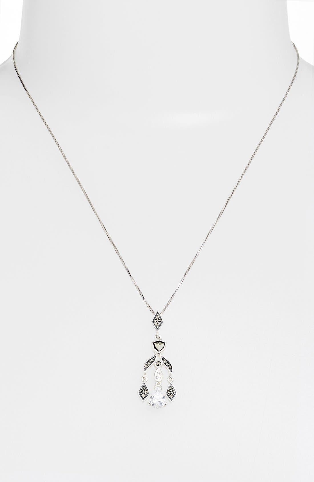 Alternate Image 1 Selected - Judith Jack 'Party Ears' Chandelier Pendant Necklace