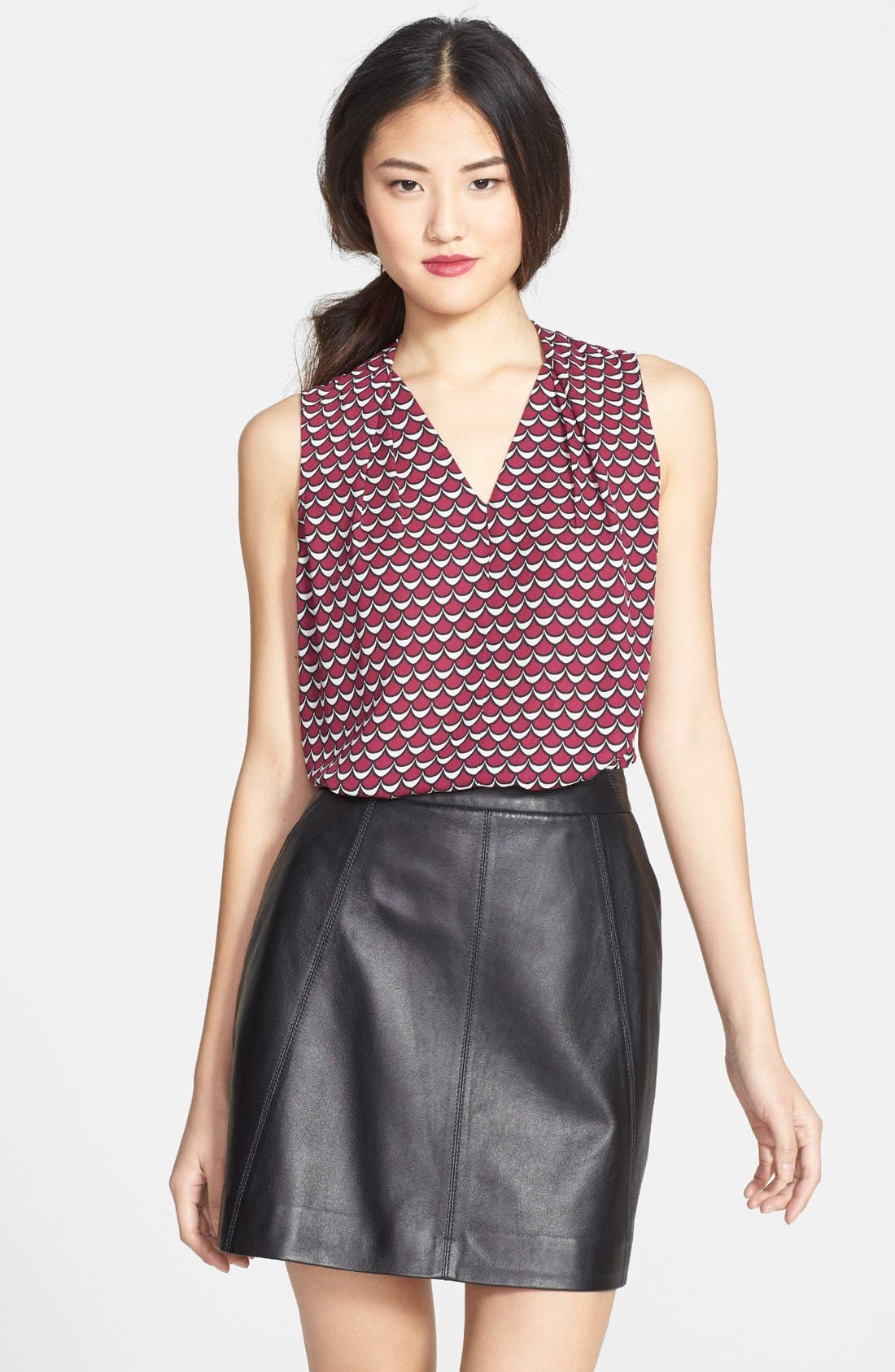 Alternate Image 1 Selected - Halogen® Sleeveless Print Blouse (Regular & Petite)