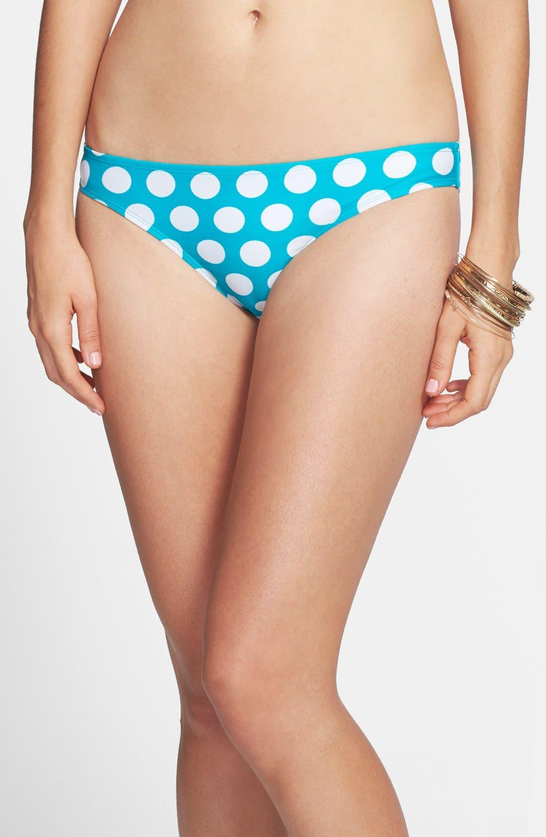 Alternate Image 2  - BP. Dot Print Bow Back Bikini Bottoms (Juniors)