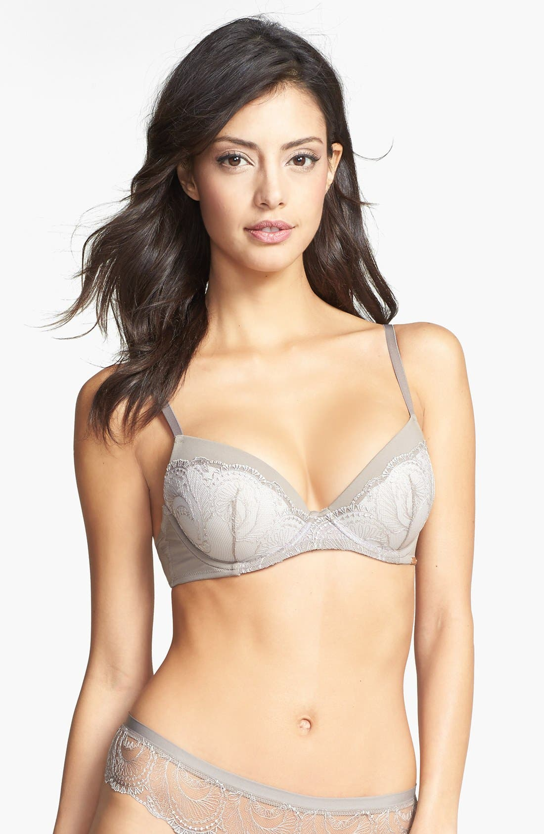 Alternate Image 1 Selected - Calvin Klein 'Customized Lift - Emotion' Underwire Push-Up Lace Bra