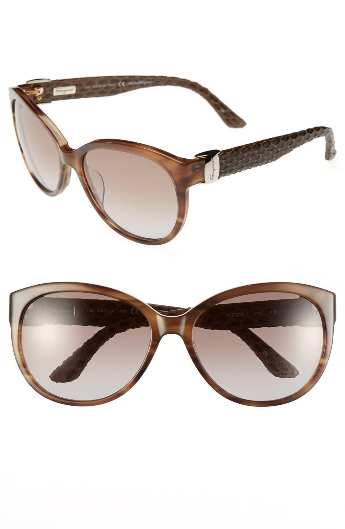 Alternate Image 1 Selected - Salvatore Ferragamo 'Vara' 59mm Sunglasses