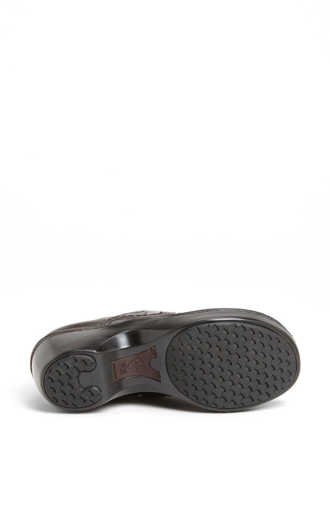 Alternate Image 4  - Ariat 'Ashbourne' Woven Leather Clog