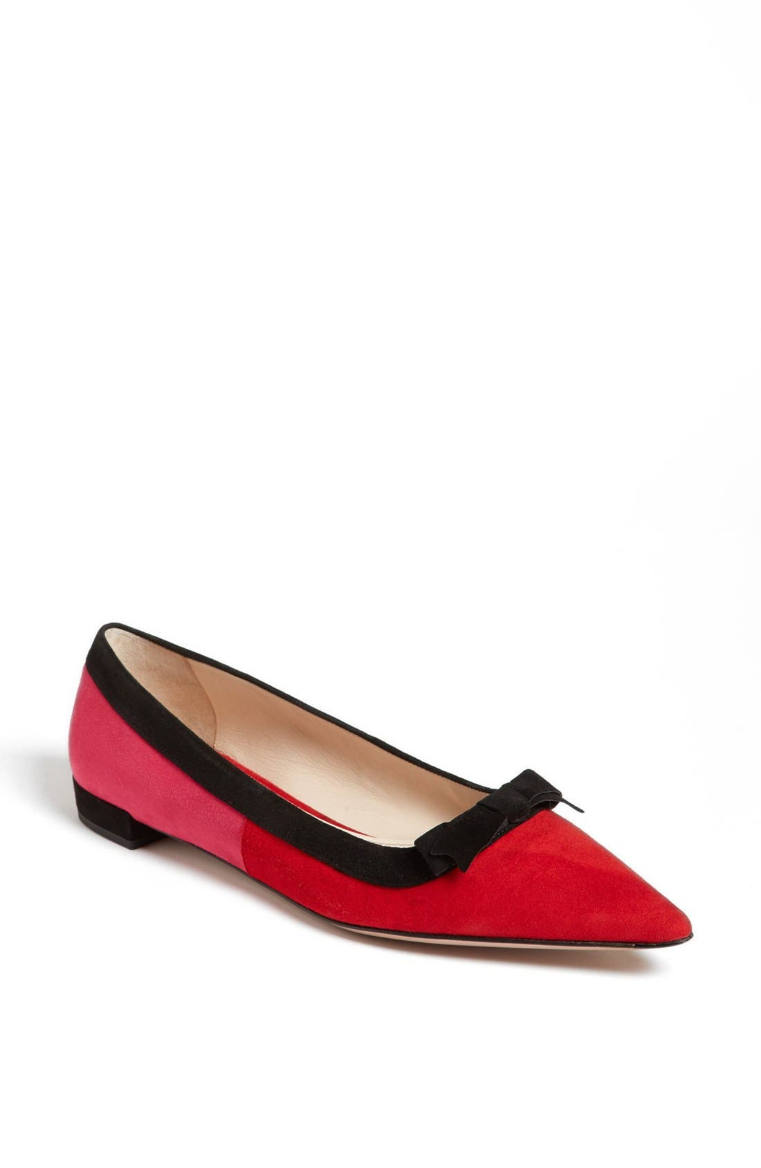 Alternate Image 1 Selected - Prada Tricolor Bow Pointy Toe Flat