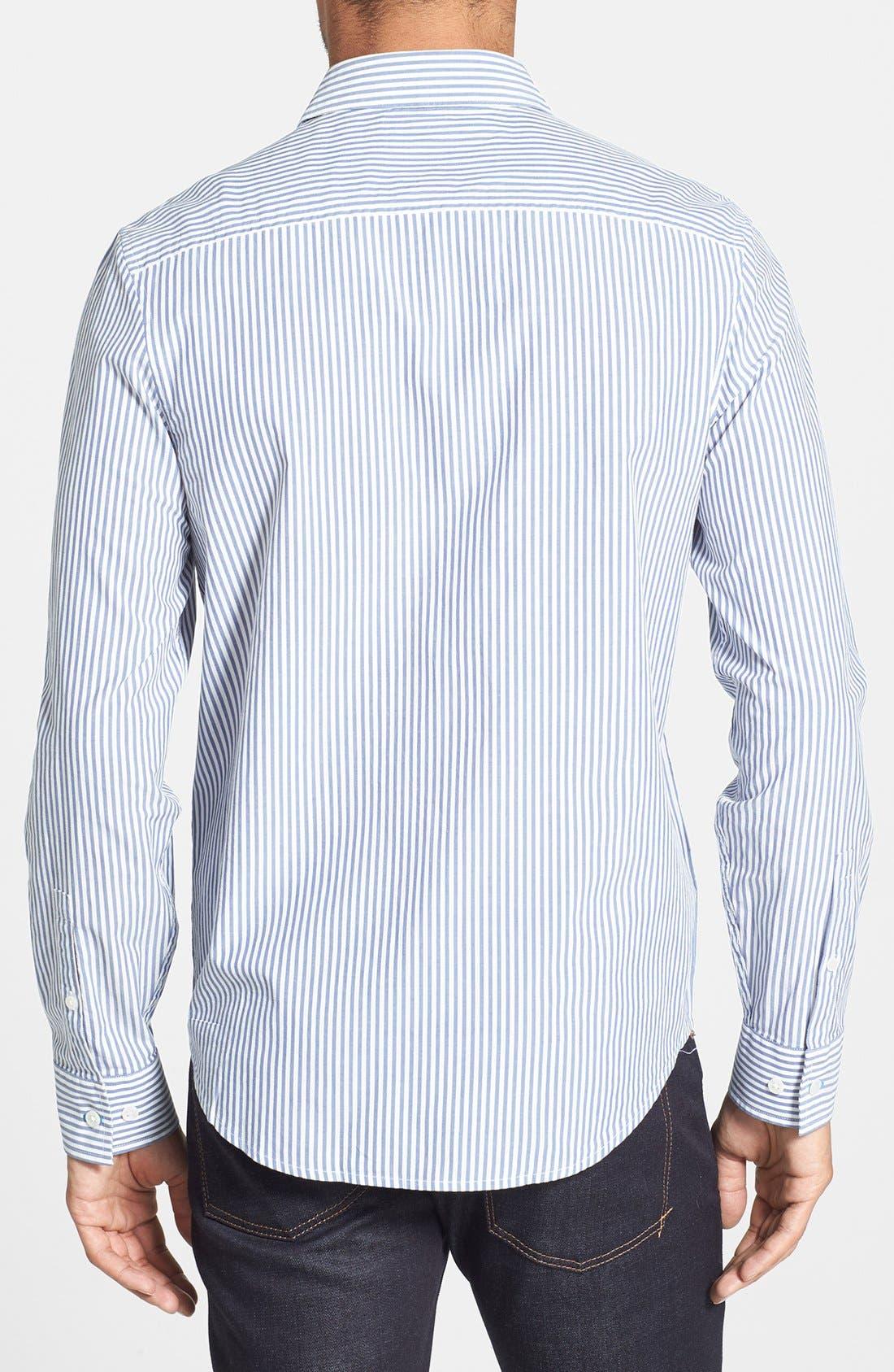 Alternate Image 2  - Original Penguin Heritage Fit Stripe Sport Shirt