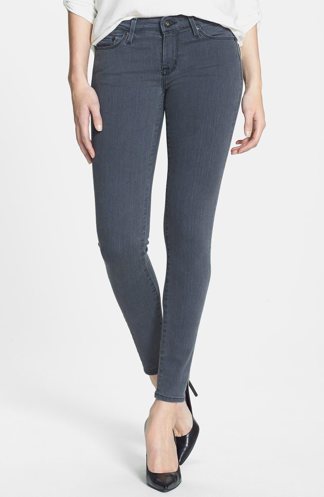 Alternate Image 1 Selected - Big Star 'Alex' Stretch Skinny Jeans (Liverpool) (Petite)