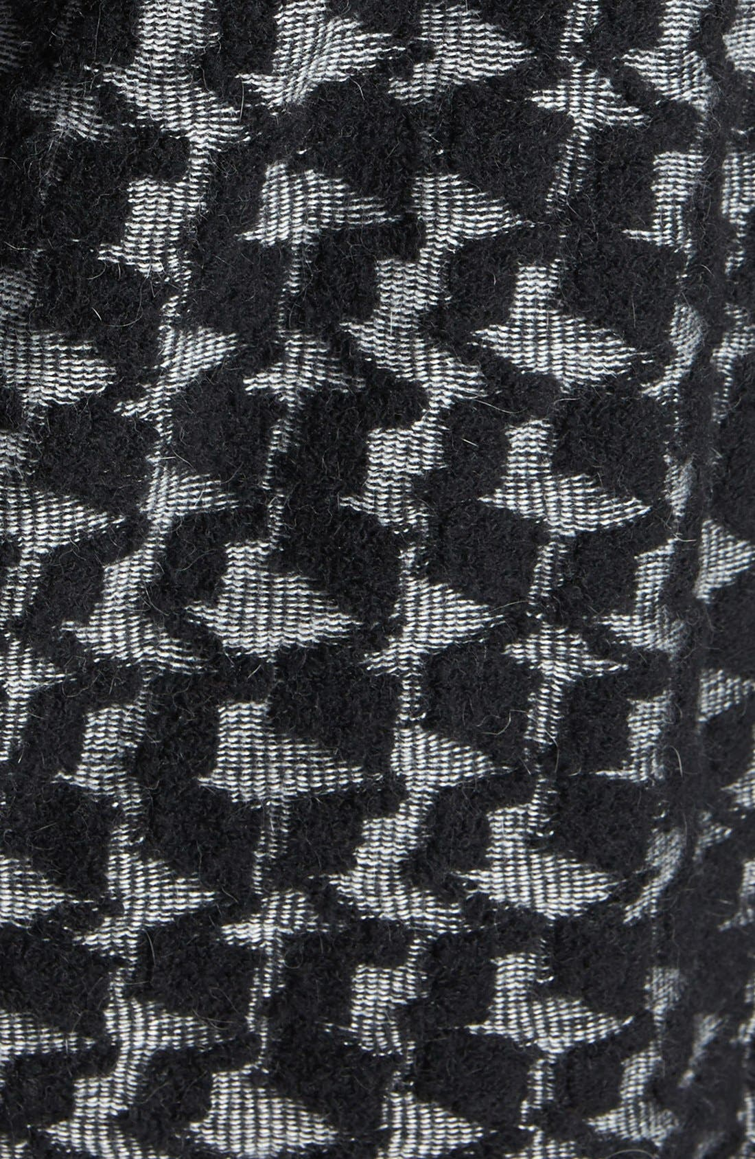 Alternate Image 3  - DKNYC Open Front Houndstooth Textured Cardigan (Plus Size)