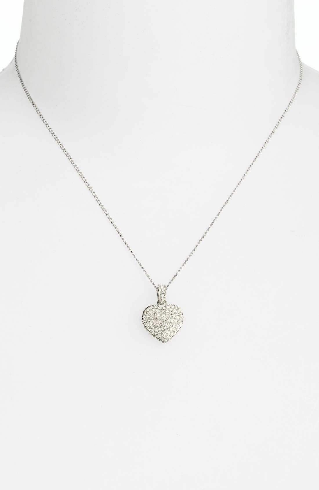 Alternate Image 2  - Judith Jack Reversible Pavé Heart Pendant Necklace