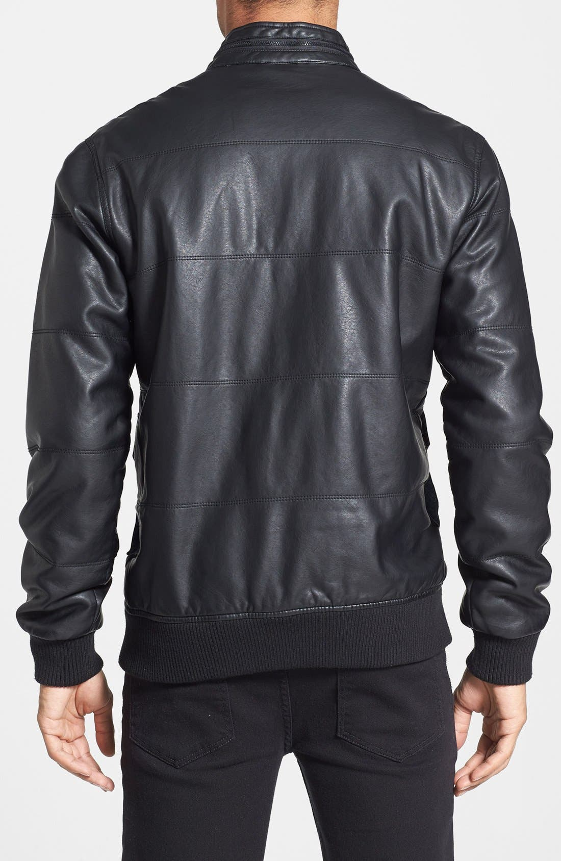 Alternate Image 2  - RVCA 'Vimy' Faux Leather Jacket
