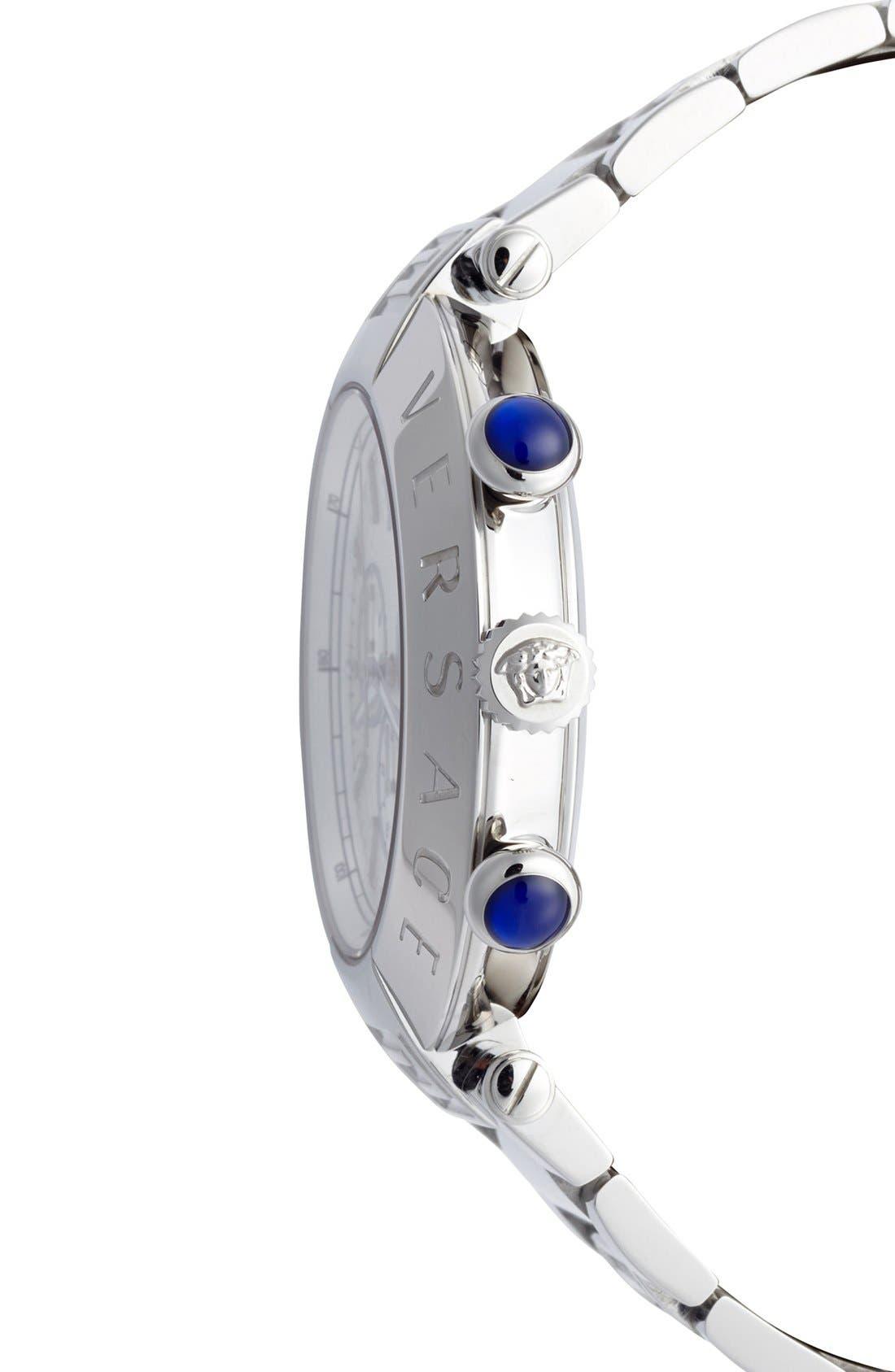 Alternate Image 3  - Versace 'Reve Chrono' Bracelet Watch, 46mm