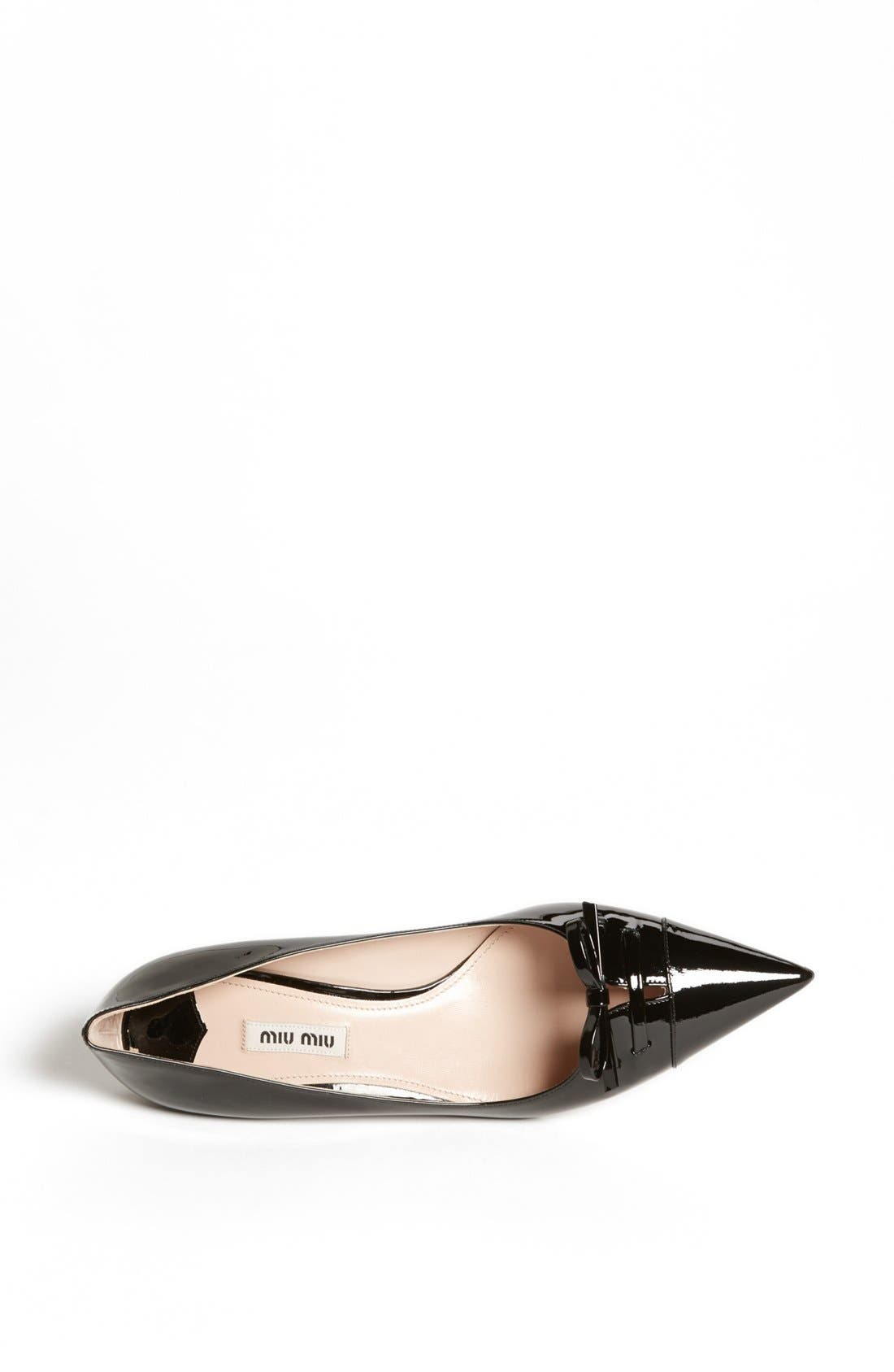 Alternate Image 3  - Miu Miu Pointed Toe Bow Pump