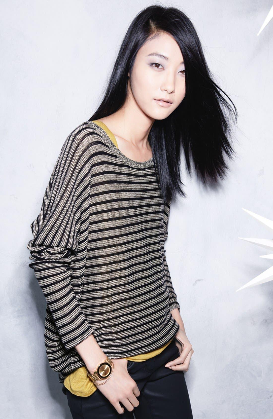 Alternate Image 5  - Eileen Fisher Wool & Linen Stripe Bateau Neck Sweater