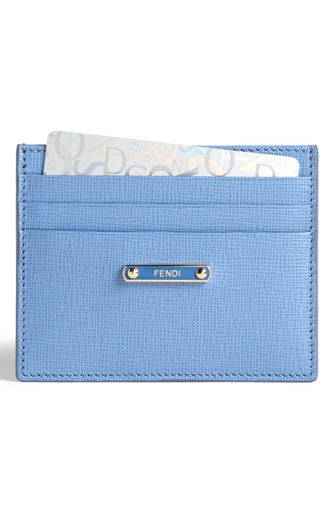 Alternate Image 1 Selected - Fendi 'Crayons' Leather Card Case