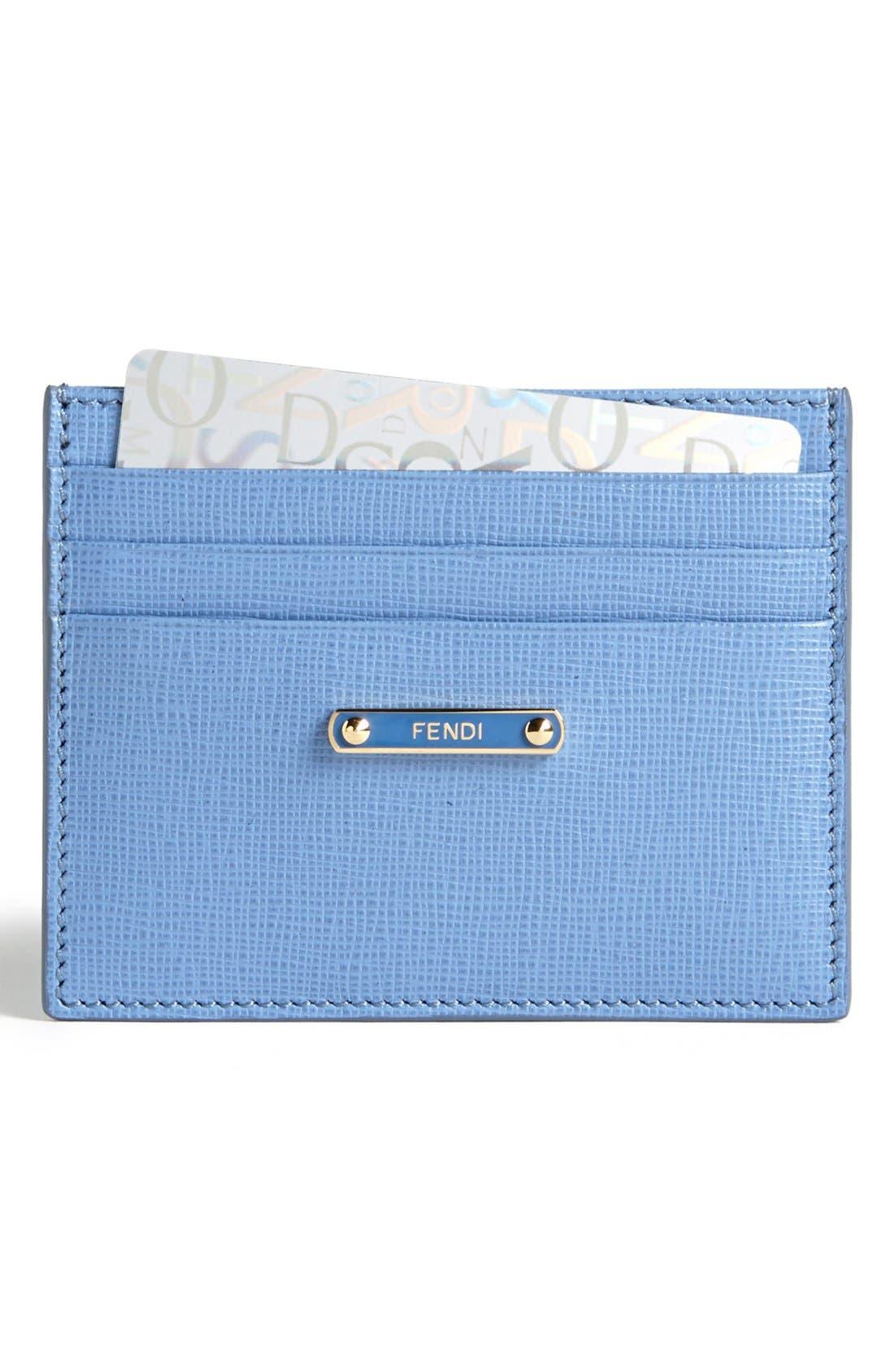 Main Image - Fendi 'Crayons' Leather Card Case