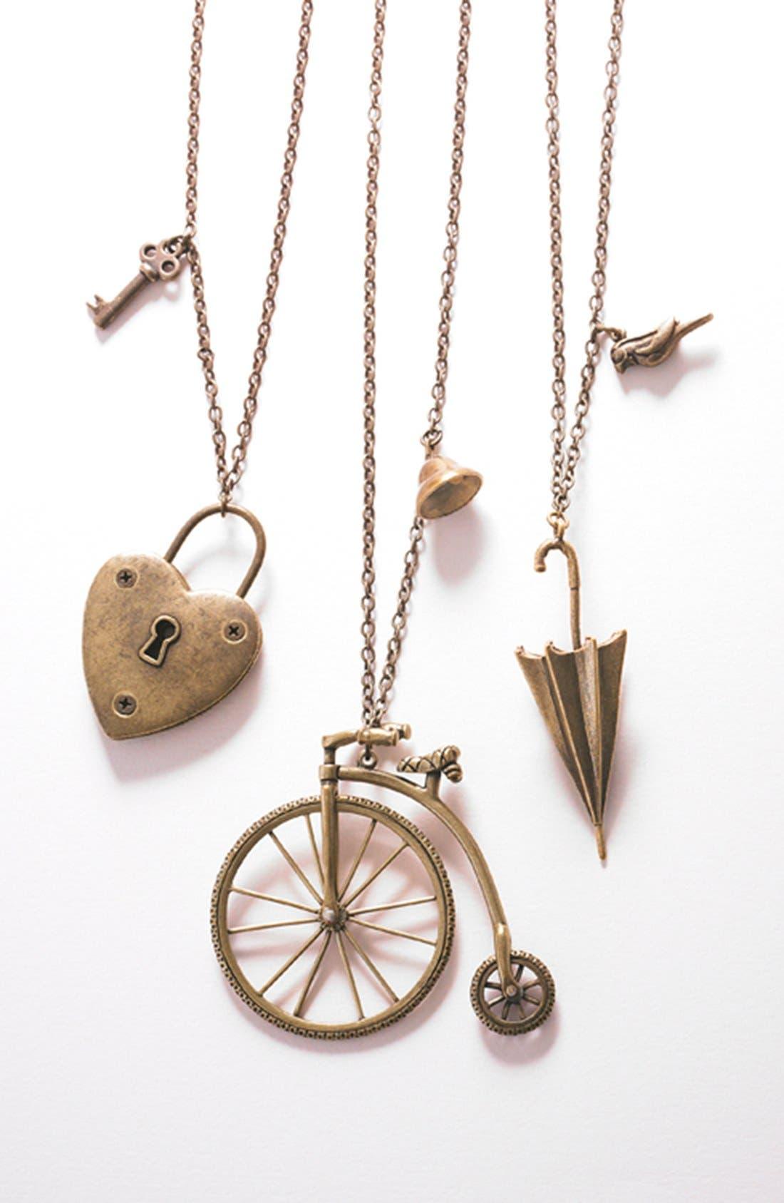 Alternate Image 3  - Nordstrom 'Antique Conversation' Bicycle Pendant Necklace