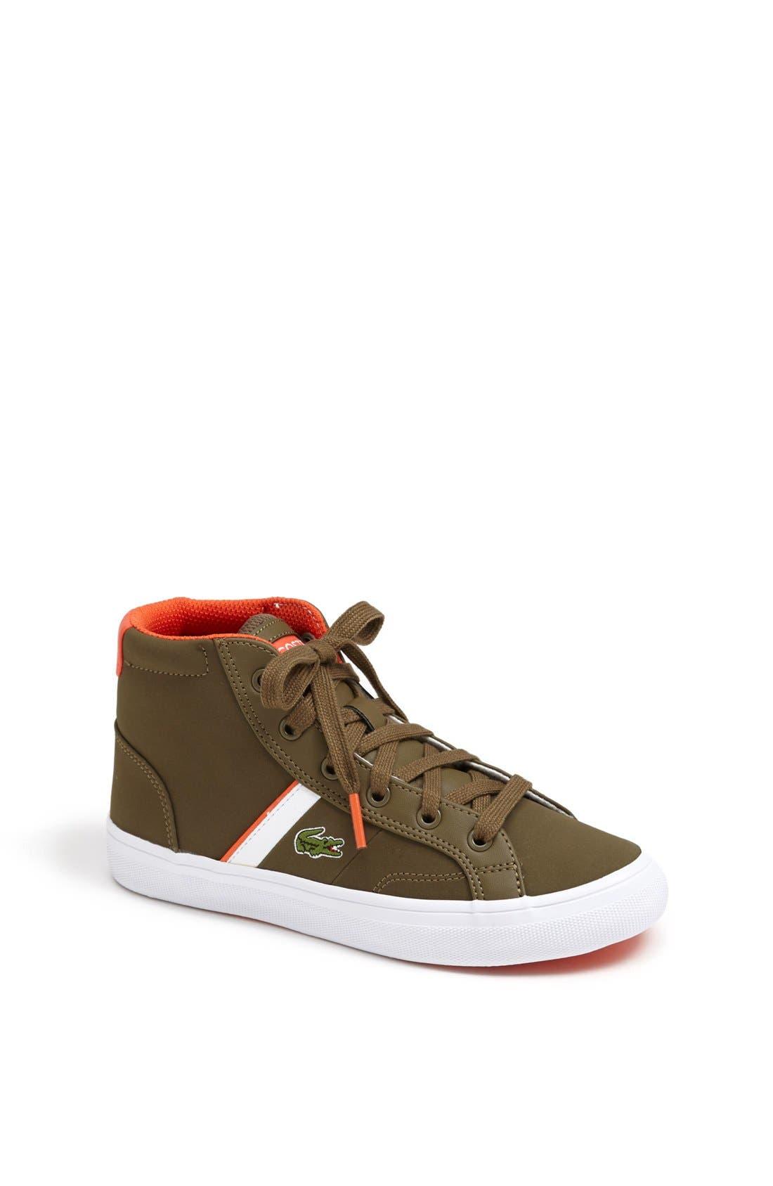 Alternate Image 1 Selected - Lacoste 'Fairlead' High Top Sneaker (Toddler, Little Kid & Big Kid)