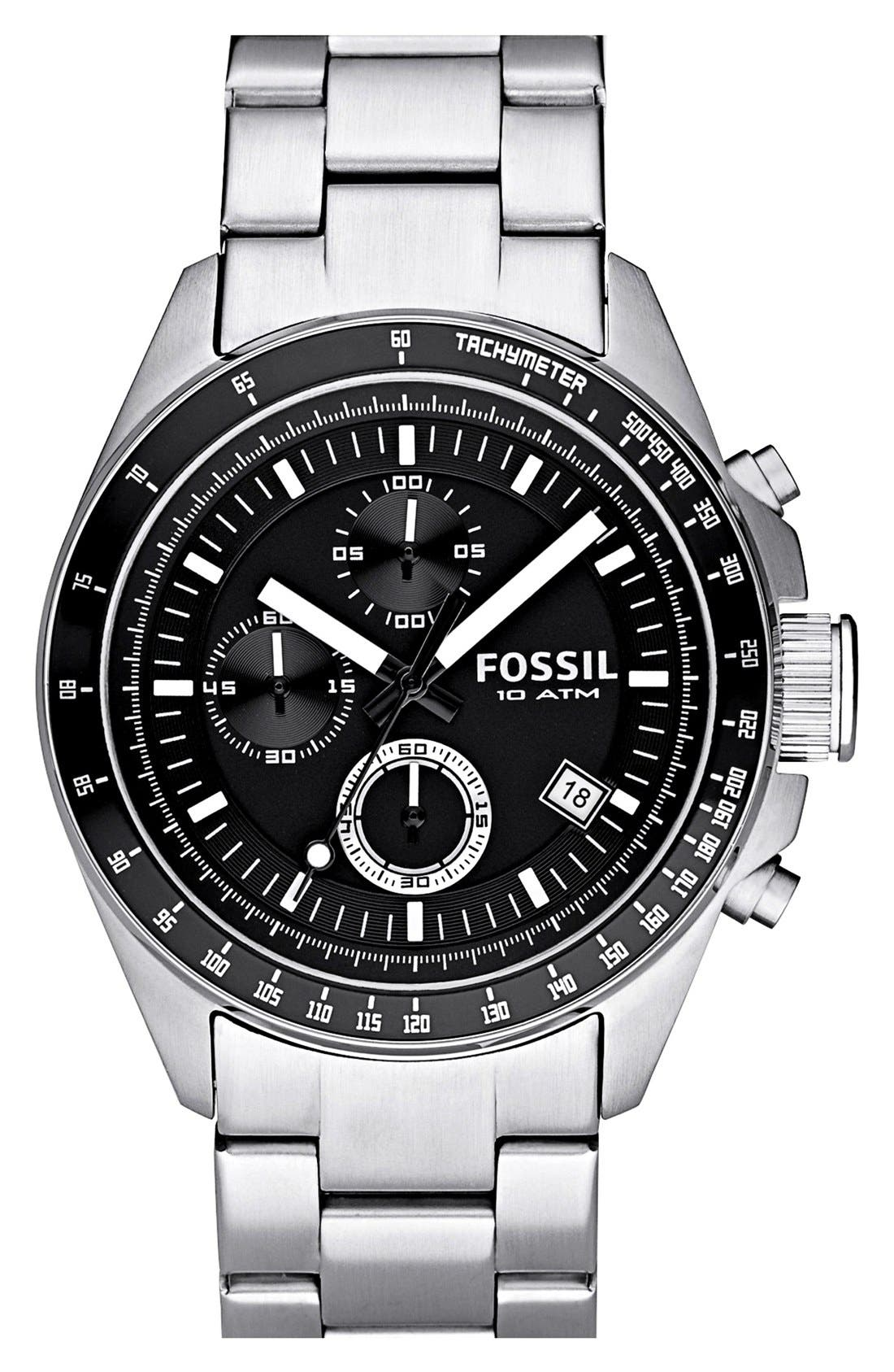 Main Image - Fossil Chronograph Tachymeter Watch, 44mm